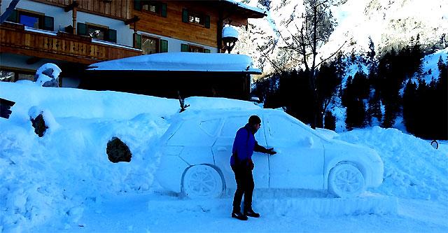 total zugefroren (unser Auto?)
