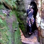 Zwillingsstiege - Abstieg nach dem Durchgang an der Jammerspitze