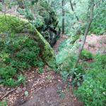 Förstersteig - Blick zurück in die Aufstiegskerbe